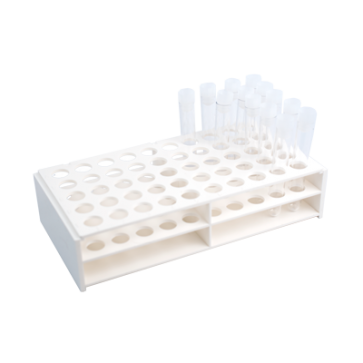Test tube rack, holds 50 test tubes of with ⌀18mm