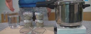 Sterilising mushroom substrate in pressure cooker