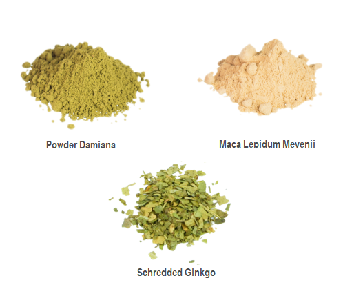 love herbs damiana, Maca and Ginkgo