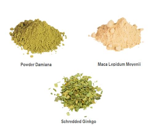 love herbs damiana, Maca and Ginkgo