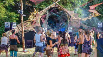 Psytrance festival magic