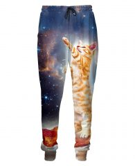 psychedelic cat pants bacon