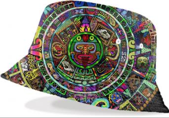 mayan bucket hat psychedelic