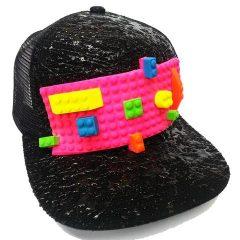 block trucker cap