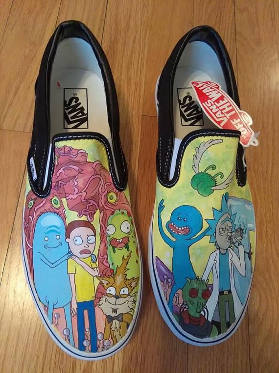 rick morty vans shoes clothes