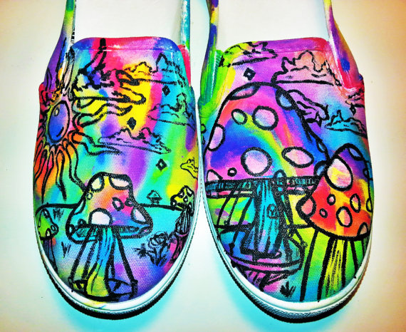 colourful mushroom shoes magic