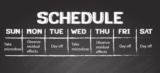 micro dose schedule