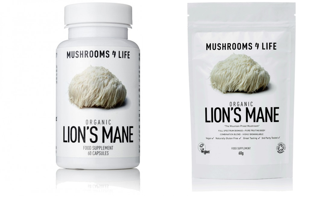 Lions Mane capsules and powder
